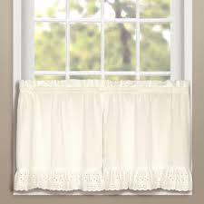 vienna eyelet kitchen u0026 tier curtains united curtain