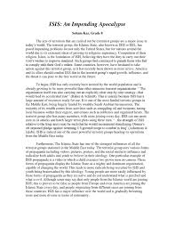 The Example Of Argumentative Essay Isis Argumentative Essay By Smita Issuu
