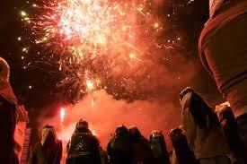 chagne bottle fireworks yanshui beehive fireworks festival yanshui district taiwan