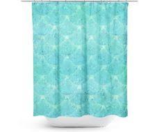 Vintage Mermaid Shower Curtain - kess inhouse mandie manzano