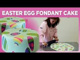 Decorating Easter Eggs With Sugar Paste by Easter Egg Fondant Cake Youtube