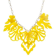 yellow necklace images Statement yellow necklace elegant jewelry bridesmaids necklace jpg