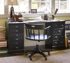 Pottery Barn Mega Desk Printer U0027s Rectangular Desk Set Pottery Barn