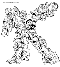 Transformers Color Page Coloring Pages For Kids Cartoon 6229 Transformer Color Page