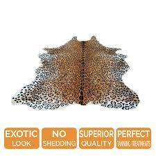 Leopard Cowhide Rug Cheetah Print Cowhide Rug