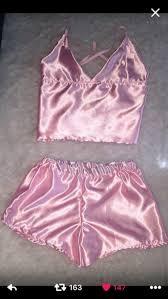 pajamas shorts silk pink pajamas pink satin cami top silk