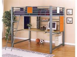 alluring full size metal loft bed metal bunk beds with desk