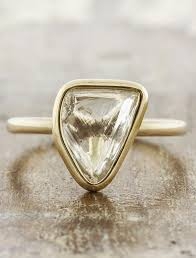 custom rings images Omie organic shaped uncut diamond bezel setting ring ken dana jpg