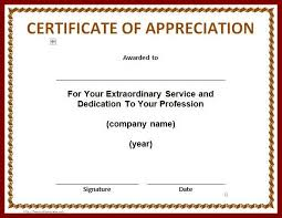 4 certificate of appreciation templates and letters