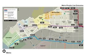 Map Downtown Los Angeles by Primer For Newbies The Purple Line Extension The Source