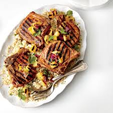 grilled pork chops with pineapple onion salsa recipe myrecipes