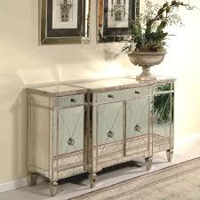 Mirrored Nightstand Furniture New Modern Style Mirrored Buffet Table For Home