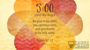 thanksgiving prayer scripture countdown playback media