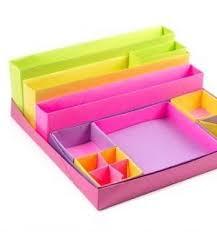 Origami Desk Organizer Diy Origami Desk Organizer Boxes Organization Pinterest