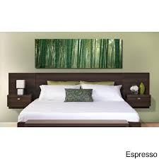 Headboards With Built In Lights White Lacquer Platform Bed With Built In Nightstands Led Lights