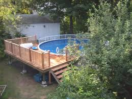 pool intex pool deck above ground pool deck plans lowes com