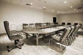 Large Conference Table Large Table And Chairs In A Modern Conference Room Stock Photo