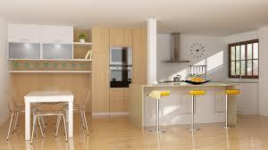 Modern Kitchen Interior Design Modern Kitchen Interior With Parquet Floor 3d Model C4d
