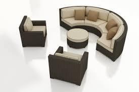 Curved Sofa Set Malibu Collection Wicker Curved Sofa Set