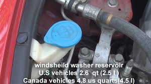 where is the windsheild washer fluid honda civic 2006 2011 youtube