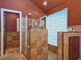 bathroom with brown wall colors and stone tiles also wall color