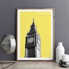 london art print big ben travel poster london gift bronagh london art print big ben travel poster london gift