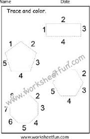 shapes and numbers coloring worksheet rectangle triangle oval