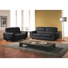 salon canapé cuir deco salon avec canape cuir noir