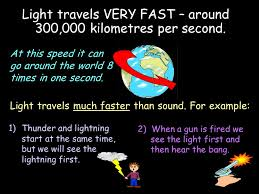 which travels faster light or sound images Light in this unit 1 properties of light 2 reflection 3 jpg