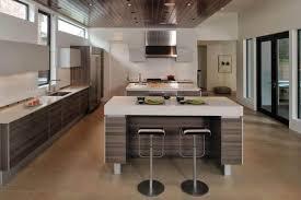 kitchen with white countertops and modern range hood kitchen