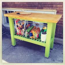 ikea hack potting bench from ikea groland kitchen island