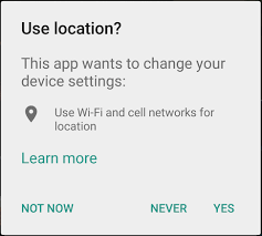 enable location services android enable location services for android if user chose never option