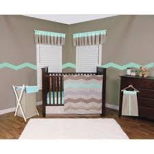 trend lab cocoa mint 3 piece crib bedding set baby baby
