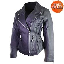bike jacket price women u0027s classic braided biker leather motorcycle jacket jafrum