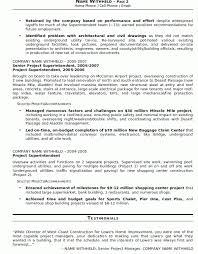 Superintendent Construction Resume Lofty Design Construction Resume Examples 13 Resume Sample 20