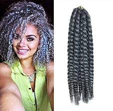 crochet braid hair 12 grey color crochet braid hair extensions hair
