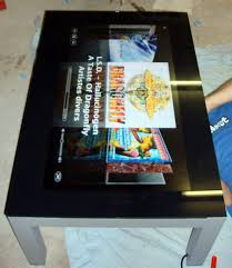 Touch Screen Coffee Table by Mac Powered Touchscreen Coffee Table Techeblog