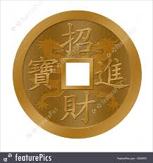 new year coin new year gold coin stock illustration i3030707 at