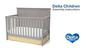 Delta Canton 4 In 1 Convertible Crib by Delta Children Epic 4 In 1 Crib Assembly Video Youtube