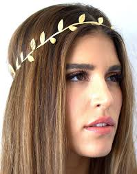 grecian headband delicate gold leaf headband for women hair accessories fashion