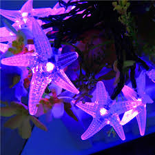 12v solar starfish string lights christmas new year outdoor
