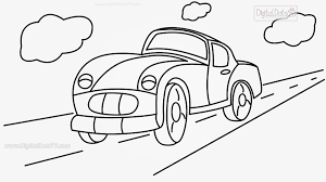 porsche cartoon drawing drawn vehicle caricature pencil and in color drawn vehicle
