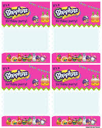 Printable Party Invitation Cards A Shopkins Birthday Party Creative Outpour