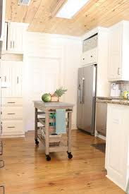 kitchen makeover before after refresh restyle cart on wheels perfect for a kitchen island