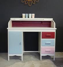 bureau enfant retro bureau vintage à glissière meubles et mobilier vintage restauré
