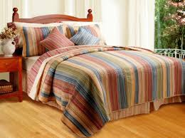Blue Striped Comforter Set Red Blue Green Brown Striped Earth Bedding Twin Full Queen King