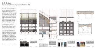 hp on floor plan h p berlage u2013 main hall and coffee house stock exchange