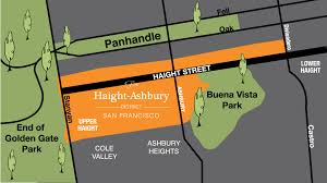 Sf District Map Haight Ashbury Bay Area Drop In