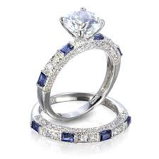 blue wedding rings blue wedding ring set wedding rings wedding ideas and inspirations