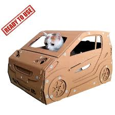 smart cardboard cat house ready to use u2013 cat bed ever made that